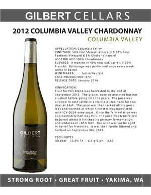 2012 Columbia Valley Chardonnay