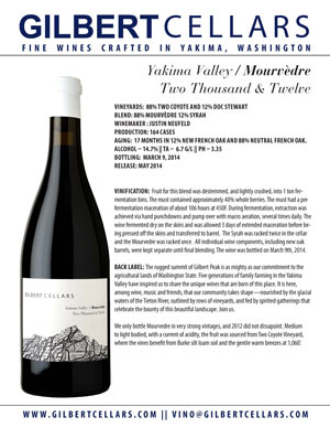 2012 Mourvedre