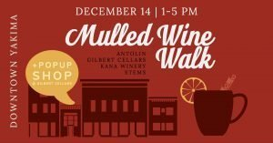 Mulled Wine Walk December 14, 1-5 PM